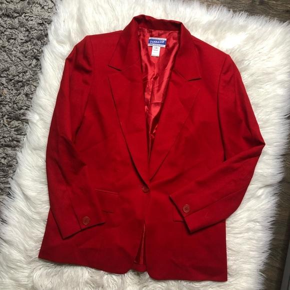 Pendleton Jackets & Blazers - Pendleton red wool blazer size 6